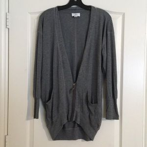 Oversized Loft gray cardigan